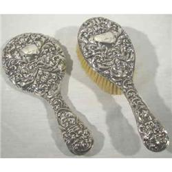 Mirror & Brush English Sterling  1905 FABULOUS #2380366