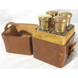 Cologne Bottle set in Leather case c1875 #2380375