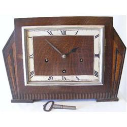 Deco Mantel Clock. English Oak c1930 #2380376