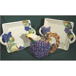 Pitcher and two Trays. Grapes. F&F #2380382