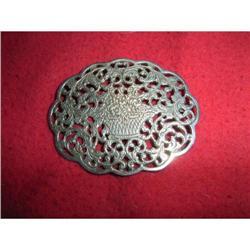 Large antique brooch with flower basket       #2380394