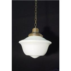 Large milk glass fixture . #2380403
