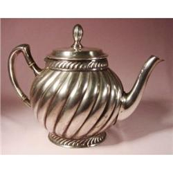 silverplate tea pot. #2380406