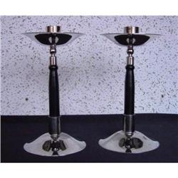 Pair of  silverplate candlestick #2380409