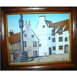 Oil Painting Landscape/ Buildings signed #2380412