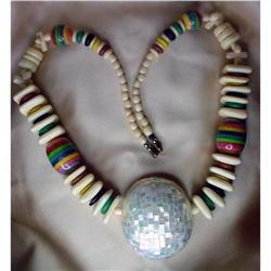 Necklace Inlaid Mother of pearl & Ivory colored#2380422