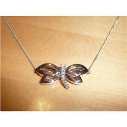 14KT White Gold Diamond Necklace Chain #2380445