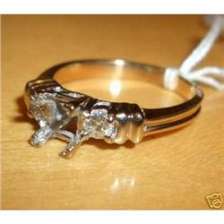 14K Yellow Gold Diamond Engagement Ring #2380448