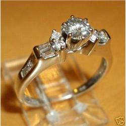 14K White Gold Diamond Engagement Ring #2380449