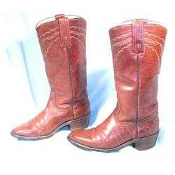 Dark Caramel Western Fancy Stitch Frye Boots 8 #2380458
