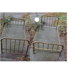 Old Brass Bed Twin size  #2380459