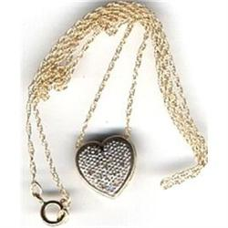 10k gold Diamond Heart Slide Necklace  #2380463