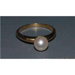 14K Gold with 6-7 mm Ocean Pearl, Sunlight  #2380466