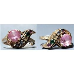 Pink Sapphire with 5 other Gems in 10K gold #2380467