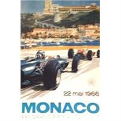 Monaco 1966 Poster, Later printing ca 1980s #2380477