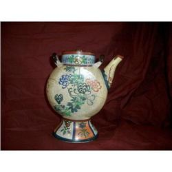 Japanese tea pot whit chrysantemum flowers #2380518