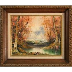 Fall Contemparary Landscape Oil Painting #2364437