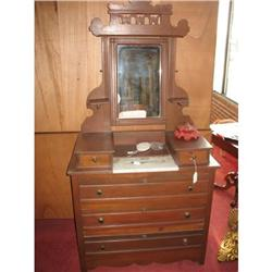 Victorian, Marble Top Dresser with Mirror, Late#2364462