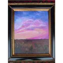 "Oil Painting by Rhea Metcalf: ""Sardis Sunset"" #2364467"