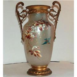 Monumental WMF Vase Martele Enameled Decor #2378504
