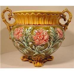 French Majolica Onnaing Jardiniere Cache Pot #2378505
