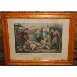 """Antique Lithograph by Turgis """"Mazeppa's Ride"""", #2378516"""