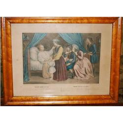 """Antique Lithograph by Turgis """"Mazeppa's Ride"""", #2378517"""