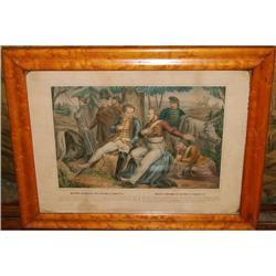 "Antique Lithograph Turgis, ""Mazeppa's Ride"" c. #2378518"