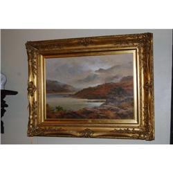 Antique Oil on Board, signed H. S. Grimshaw #2378524