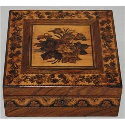 Stunning Antique Tunbridge Inlay Box, c. 1850 #2378525