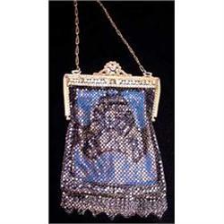 Mandalian Mesh Purse with Enameled Frame #2378543
