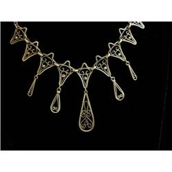 19th C. French 18K Gold Dangly Necklace #2378548