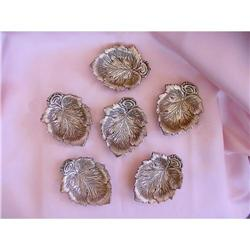Set of Sterling Nut Dishes Placecard Holders #2378551