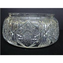 SUPERB OLD BRILLIANT CUT GLASS ROUND BOWL  #2378705