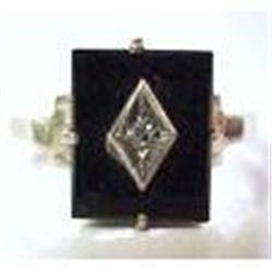 Victorian  Diamond & Black Onyx RING #2378709