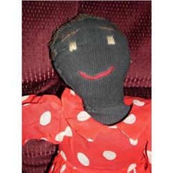 """21"""" Early 1900's Black Sewn Doll #2378726"""