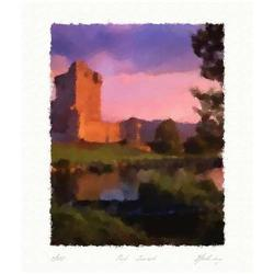 """Lithograph """"Pink Sunset"""" by Livitin In. #2378749"""