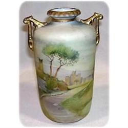 Noritake Nippon Vellum Ruins Landscape Vase #2378753