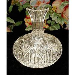 CUT GLASS CARAFE AMERICAN BRILLIANT PERIOD #31 #2378803