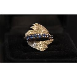 Fabulous 14K Gold & Sapphires Ring #2379157