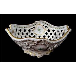 Large Oval Open Work Basket by Herend #2379180
