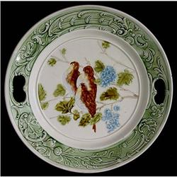 Majolica / Barbotine Display Plate with Birds #2379192