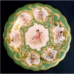 Soft Paste Scalloped Plate with Cherubs #2379194