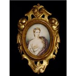 Miniature Portrait of Lady with Exposed #2379199