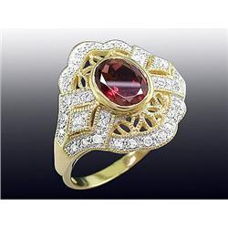 Pink Tourmaline & Diamond Ring #2379463