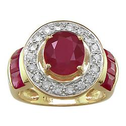 Ruby and White Sapphire  Ring #2379465