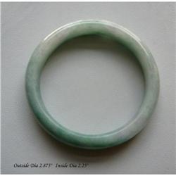 Chinese White & Green Jadeite Bracelet #2379473