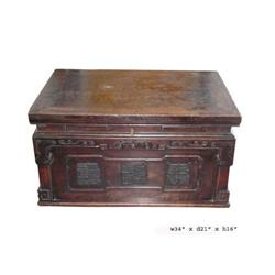 Antique Chinese Yellow Rosewood Box Table Truck#2379477