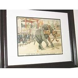 Circus Game in Annam colored old print French #2379480