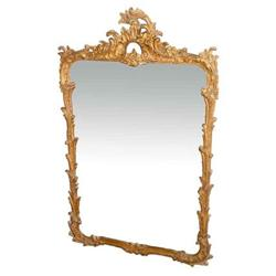 Nice Rococo style Floral Gilt Wood Wall Mirror #2379492